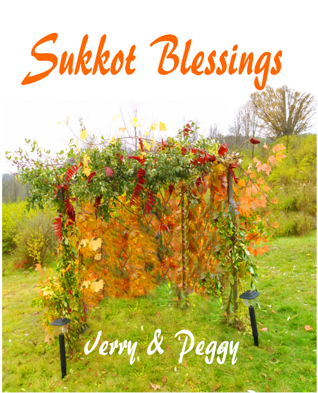 custom sukkot flag