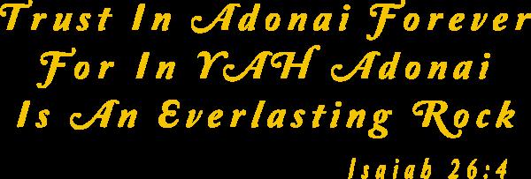 Trust in Adonai decal