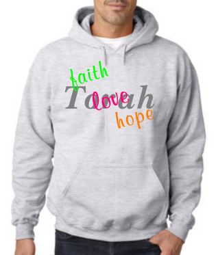 faith love hope Torah hoodie