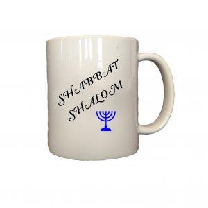 Shabbat Shalom mug