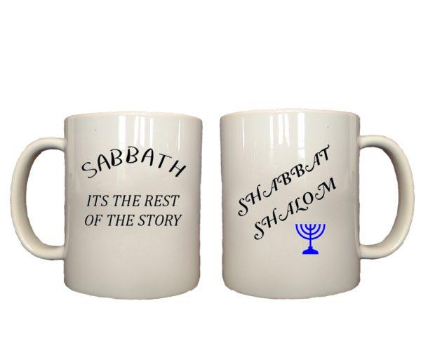 Sabbath shabbat shalom mug