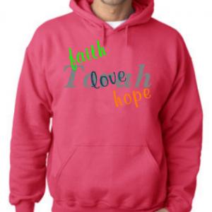 faith love hope Torah hoodie